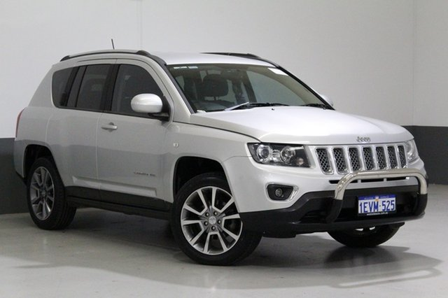 Used Jeep Compass MK MY14 Limited (4x4), 2014 Jeep Compass MK MY14 Limited (4x4) Silver 6 Speed Automatic Wagon