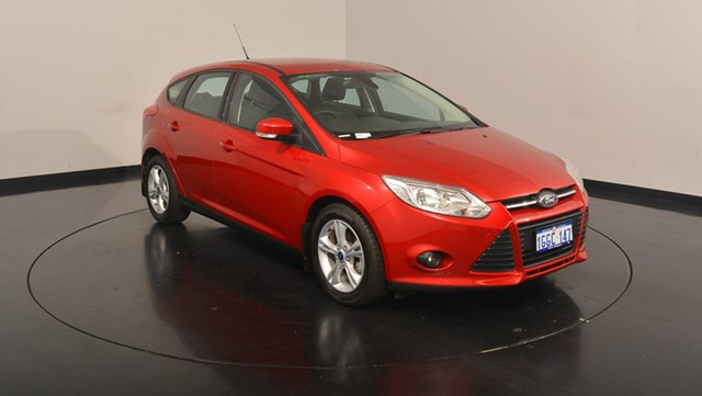 Used Ford Focus LW MKII MY14 Trend PwrShift, 2014 Ford Focus LW MKII MY14 Trend PwrShift Red 6 Speed Sports Automatic Dual Clutch Hatchback