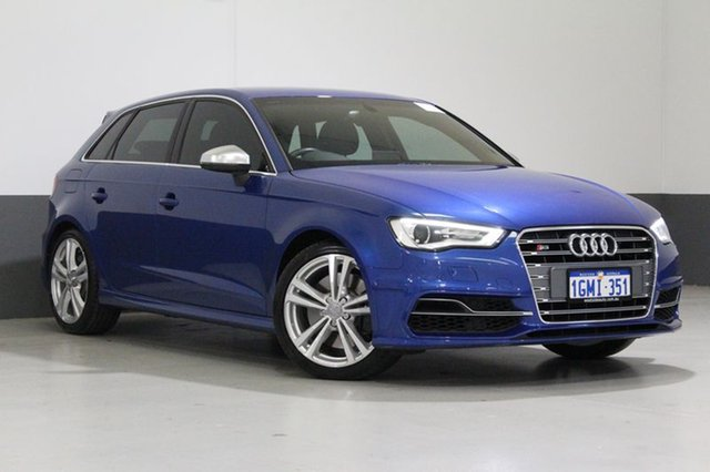 Used Audi S3 8V MY15 Sportback 2.0 TFSI Quattro, 2015 Audi S3 8V MY15 Sportback 2.0 TFSI Quattro Blue 6 Speed Direct Shift Hatchback