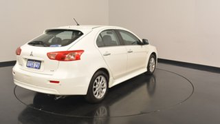 2013 Mitsubishi Lancer CJ MY13 LX Sportback White 6 Speed Constant Variable Hatchback