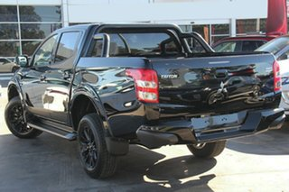 2018 Mitsubishi Triton MQ MY18 Blackline Double Cab Pitch Black 5 Speed Sports Automatic Utility.