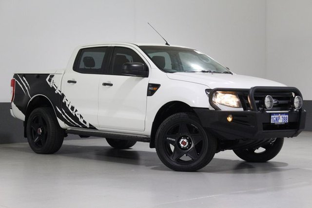 Used Ford Ranger PX XL 3.2 (4x4), 2014 Ford Ranger PX XL 3.2 (4x4) White 6 Speed Automatic Dual Cab Utility