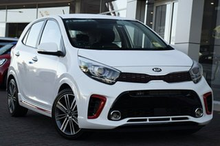 2020 Kia Picanto JA MY20 GT-Line Clear White 5 Speed Manual Hatchback.
