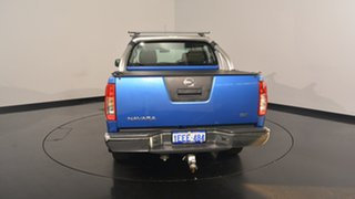 2013 Nissan Navara D40 S6 MY12 ST 4x2 Blue 6 Speed Manual Utility