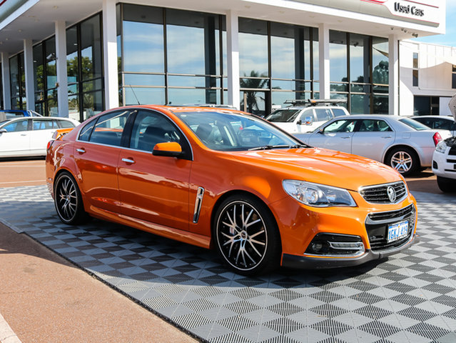 Used Holden Commodore VF MY14 SS V Redline, 2013 Holden Commodore VF MY14 SS V Redline Orange 6 Speed Sports Automatic Sedan