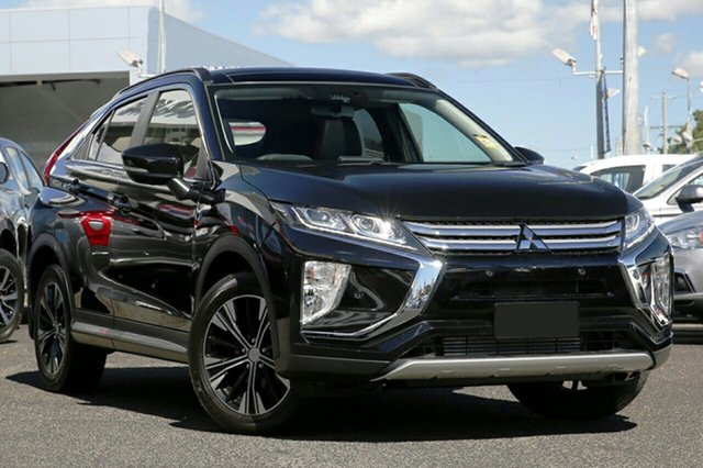 New Mitsubishi Eclipse Cross YA MY18 Exceed 2WD, 2018 Mitsubishi Eclipse Cross YA MY18 Exceed 2WD Black 8 Speed Constant Variable Wagon