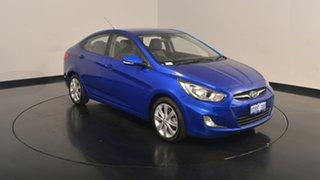 2011 Hyundai Accent RB Premium Ocean Blue 4 Speed Sports Automatic Sedan.