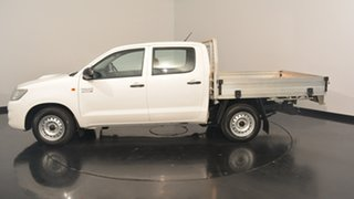 2015 Toyota Hilux KUN16R MY14 SR Double Cab White 5 Speed Manual Utility.