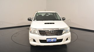 2015 Toyota Hilux KUN16R MY14 SR Double Cab White 5 Speed Manual Utility