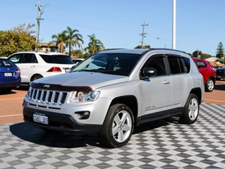2012 Jeep Compass MK MY12 Limited CVT Auto Stick Silver 6 Speed Constant Variable Wagon.