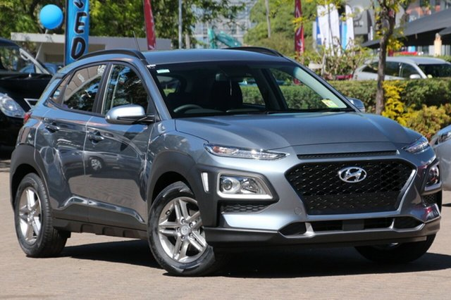New Hyundai Kona OS MY18 Active D-CT AWD Albion, 2017 Hyundai Kona OS MY18 Active D-CT AWD Lake Silver 7 Speed Sports Automatic Dual Clutch Wagon
