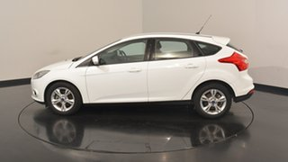 2014 Ford Focus LW MKII MY14 Trend PwrShift Frozen White 6 Speed Sports Automatic Dual Clutch.