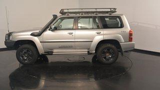 2010 Nissan Patrol GU 7 MY10 ST Silver 4 Speed Automatic Wagon.