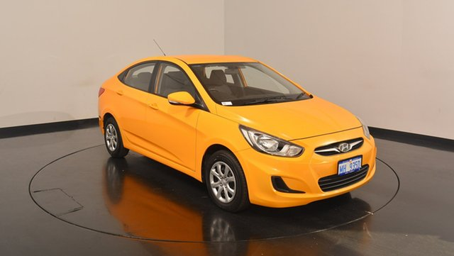 Used Hyundai Accent RB2 Active, 2014 Hyundai Accent RB2 Active Sunflower 4 Speed Sports Automatic Sedan