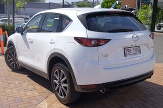 2017 Mazda CX-5 KF4W2A Akera SKYACTIV-Drive i-ACTIV AWD Snowflake White 6 Speed Sports Automatic.