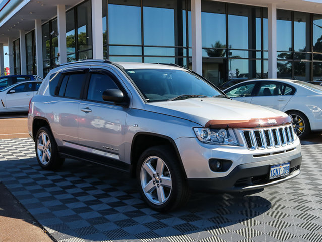 Used Jeep Compass MK MY12 Limited CVT Auto Stick, 2012 Jeep Compass MK MY12 Limited CVT Auto Stick Silver 6 Speed Constant Variable Wagon