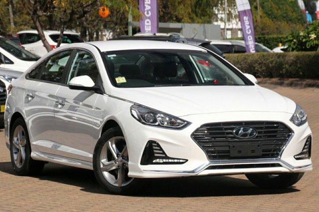New Hyundai Sonata LF4 MY18 Active, 2018 Hyundai Sonata LF4 MY18 Active White Cream 6 Speed Sports Automatic Sedan