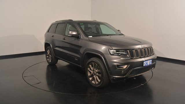 Used Jeep Grand Cherokee WK MY16 75th Anniversary, 2016 Jeep Grand Cherokee WK MY16 75th Anniversary Granite Crystal 8 Speed Sports Automatic Wagon