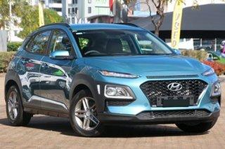 2017 Hyundai Kona OS MY18 Active 2WD Ceramic Blue 6 Speed Sports Automatic Wagon.