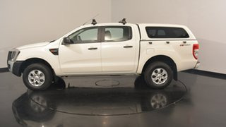 2012 Ford Ranger PX XL Double Cab 4x2 Hi-Rider White 6 Speed Sports Automatic Utility.