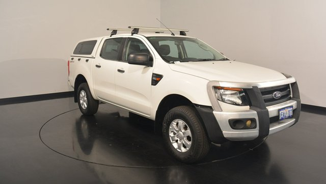 Used Ford Ranger PX XL Double Cab 4x2 Hi-Rider, 2012 Ford Ranger PX XL Double Cab 4x2 Hi-Rider White 6 Speed Sports Automatic Utility