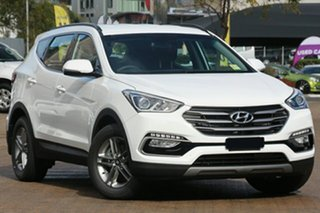 2017 Hyundai Santa Fe DM5 MY18 Active Pure White 6 Speed Sports Automatic Wagon.