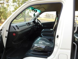 2013 Toyota HiAce KDH223R MY12 Commuter High Roof Super LWB White 5 Speed Manual Bus
