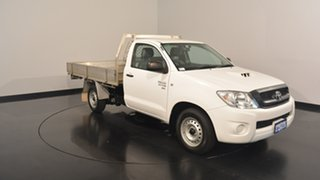 2011 Toyota Hilux KUN16R MY10 SR 4x2 White 5 Speed Manual Cab Chassis