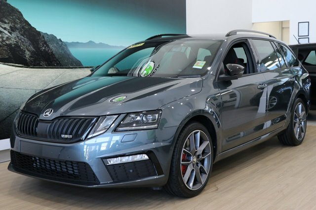 New Skoda Octavia NE MY20.5 RS DSG 245 Hobart, 2020 Skoda Octavia NE MY20.5 RS DSG 245 Steel Grey 7 Speed Sports Automatic Dual Clutch Wagon