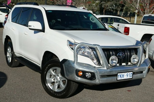 Used Toyota Landcruiser Prado KDJ150R MY14 GXL, 2014 Toyota Landcruiser Prado KDJ150R MY14 GXL White 5 Speed Sports Automatic Wagon