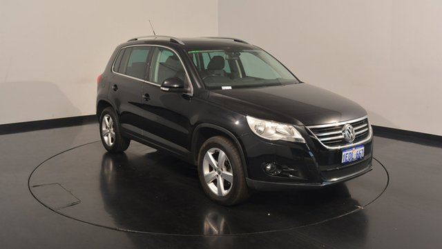 Used Volkswagen Tiguan 5N MY09 147TSI 4MOTION, 2009 Volkswagen Tiguan 5N MY09 147TSI 4MOTION Black 6 Speed Sports Automatic Wagon