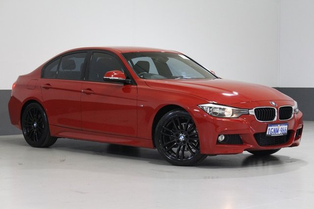 Used BMW 316I F30 MY14 , 2014 BMW 316I F30 MY14 Red 8 Speed Automatic Sedan