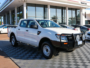 2012 Ford Ranger PX XL Double Cab White 6 Speed Manual Utility.
