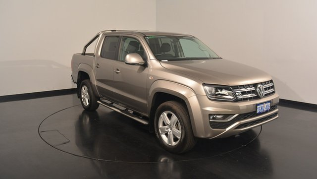 Used Volkswagen Amarok 2H MY17 TDI550 4MOTION Perm Highline, 2017 Volkswagen Amarok 2H MY17 TDI550 4MOTION Perm Highline Beige Metallic 8 Speed Automatic Utility