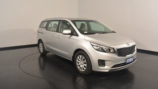 2017 Kia Carnival YP MY17 S Silky Silver 6 Speed Sports Automatic Wagon.