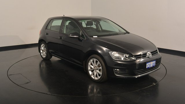 Used Volkswagen Golf VII MY14 103TSI DSG Highline, 2014 Volkswagen Golf VII MY14 103TSI DSG Highline Black 7 Speed Sports Automatic Dual Clutch