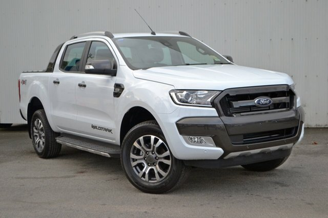 New Ford Ranger PX MkII MY18 Wildtrak Double Cab, 2018 Ford Ranger PX MkII MY18 Wildtrak Double Cab Frozen White 6 Speed Sports Automatic Utility