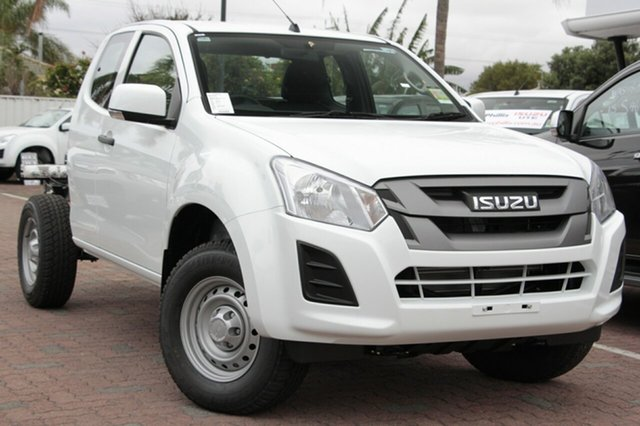New Isuzu D-MAX MY19 SX Space Cab, 2019 Isuzu D-MAX MY19 SX Space Cab Splash White 6 Speed Manual Cab Chassis