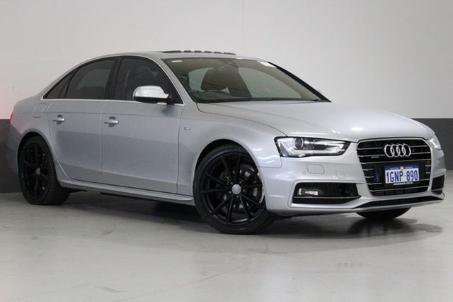 Used Audi A4 B8 (8K) MY15 2.0 TFSI S-Line Quattro, 2015 Audi A4 B8 (8K) MY15 2.0 TFSI S-Line Quattro Floret Silver 7 Speed Auto Direct Shift Sedan