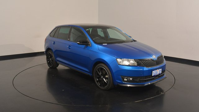 Used Skoda Rapid NH MY17 Monte Carlo Spaceback DSG, 2017 Skoda Rapid NH MY17 Monte Carlo Spaceback DSG Race Blue 7 Speed Sports Automatic Dual Clutch