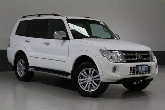 Used Mitsubishi Pajero NW MY14 Exceed LWB (4x4), 2014 Mitsubishi Pajero NW MY14 Exceed LWB (4x4) Pearl White 5 Speed Auto Sports Mode Wagon