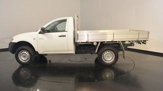 2012 Mitsubishi Triton MN MY12 GL White 5 Speed Manual Cab Chassis.