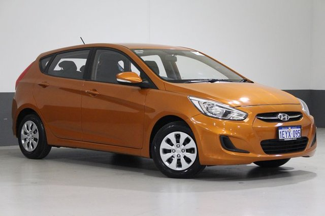 Used Hyundai Accent RB4 MY16 Active, 2016 Hyundai Accent RB4 MY16 Active Orange 6 Speed CVT Auto Sequential Hatchback