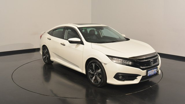 Used Honda Civic 10th Gen MY16 RS, 2016 Honda Civic 10th Gen MY16 RS White 1 Speed Constant Variable Sedan