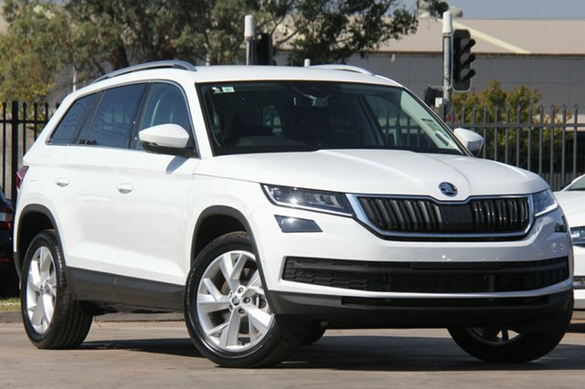 New Skoda Kodiaq NS MY19 132TSI DSG, 2018 Skoda Kodiaq NS MY19 132TSI DSG Candy White 7 Speed Sports Automatic Dual Clutch Wagon