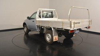 2014 Mitsubishi Triton MN MY15 GL Silver 5 Speed Manual Cab Chassis.
