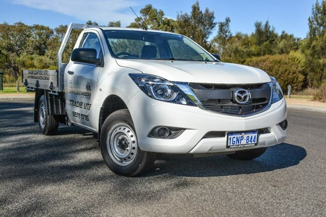 Demo Mazda BT-50 UR0YE1 XT 4x2, 2017 Mazda BT-50 UR0YE1 XT 4x2 White 6 Speed Manual Cab Chassis