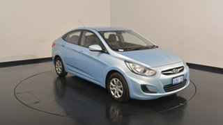 2012 Hyundai Accent RB Active Clean Blue 4 Speed Sports Automatic Sedan.