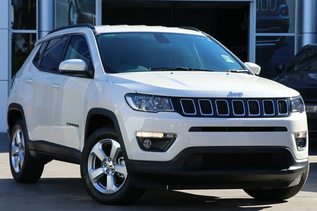 New Jeep Compass M6 MY18 Longitude FWD, 2017 Jeep Compass M6 MY18 Longitude FWD Vocal White 6 Speed Automatic Wagon