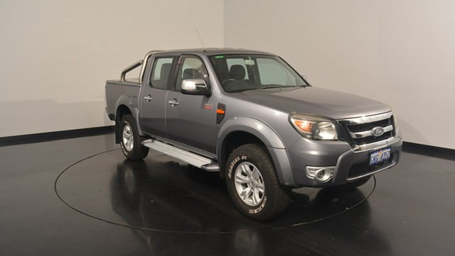Used Ford Ranger PK XLT Crew Cab, 2010 Ford Ranger PK XLT Crew Cab Grey 5 Speed Manual Utility